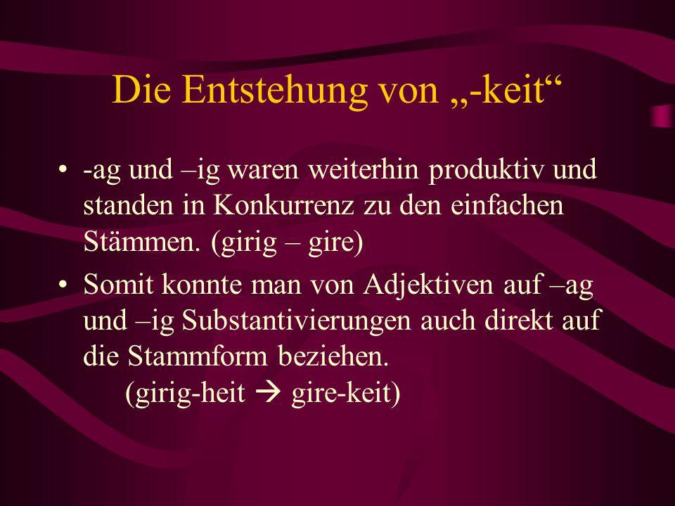 """Die Entstehung von """"-keit"""