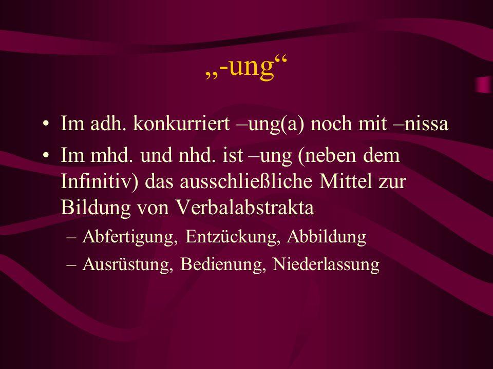 """""""-ung Im adh. konkurriert –ung(a) noch mit –nissa"""