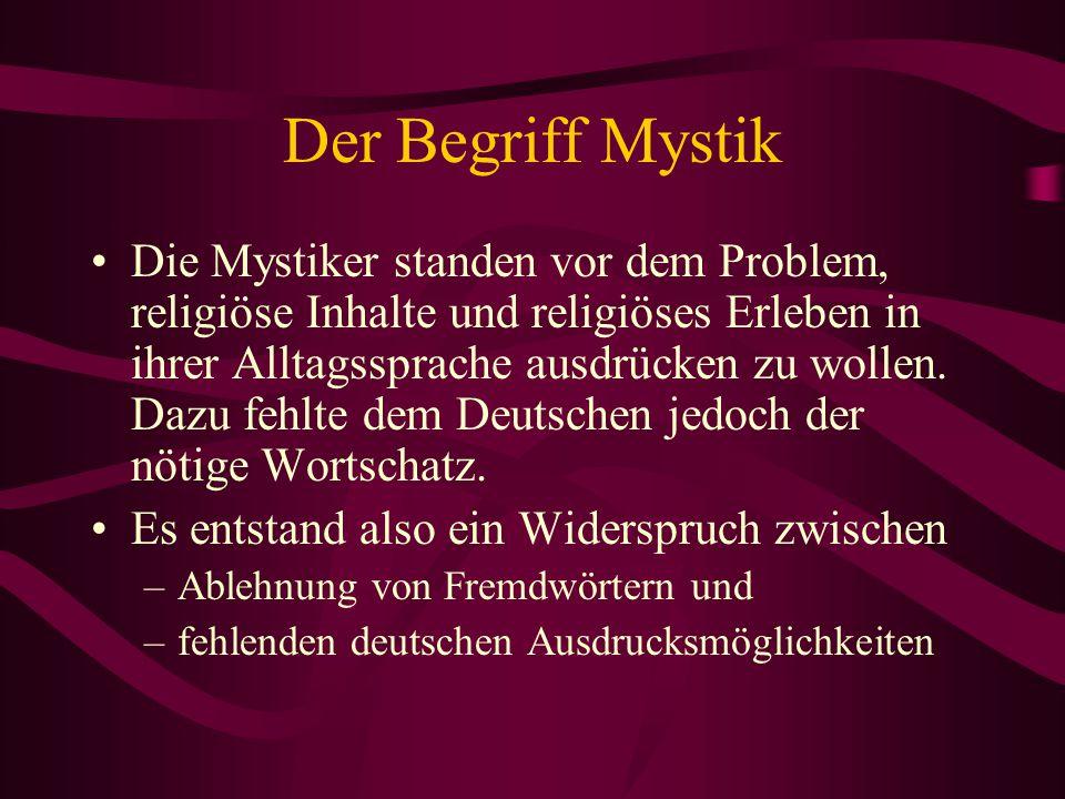 Der Begriff Mystik