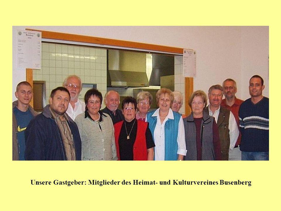 Unsere Gastgeber: Mitglieder des Heimat- und Kulturvereines Busenberg