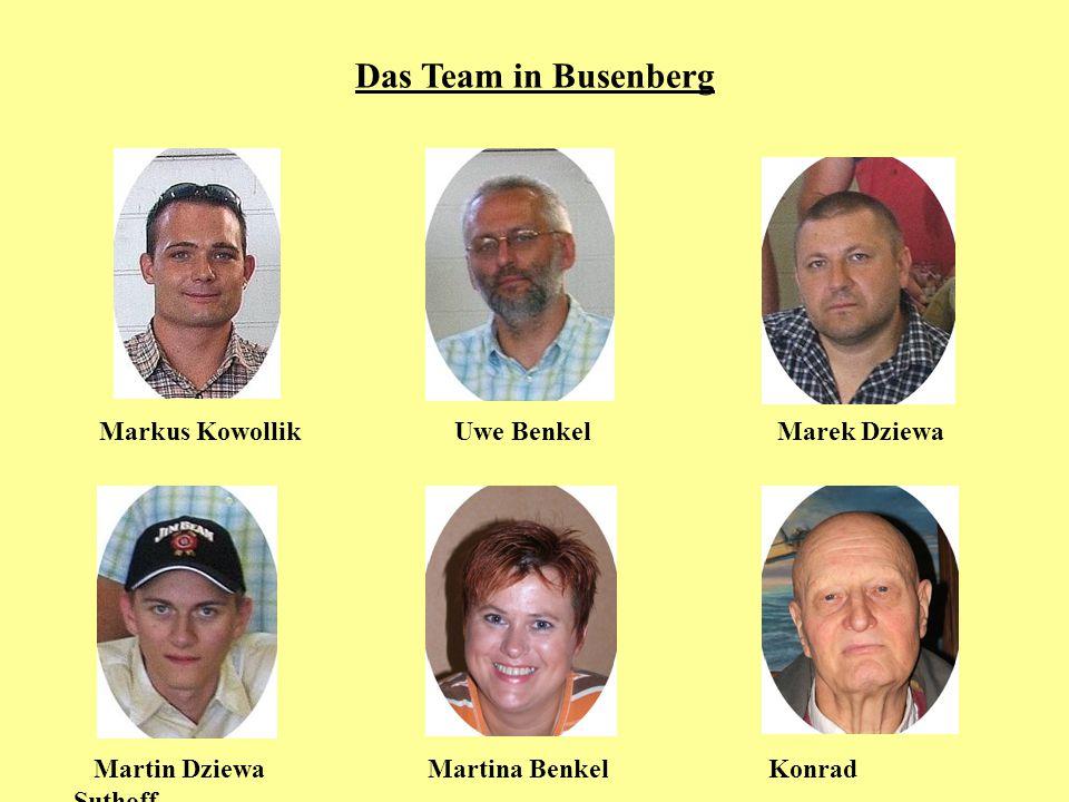 Das Team in Busenberg Markus Kowollik Uwe Benkel Marek Dziewa