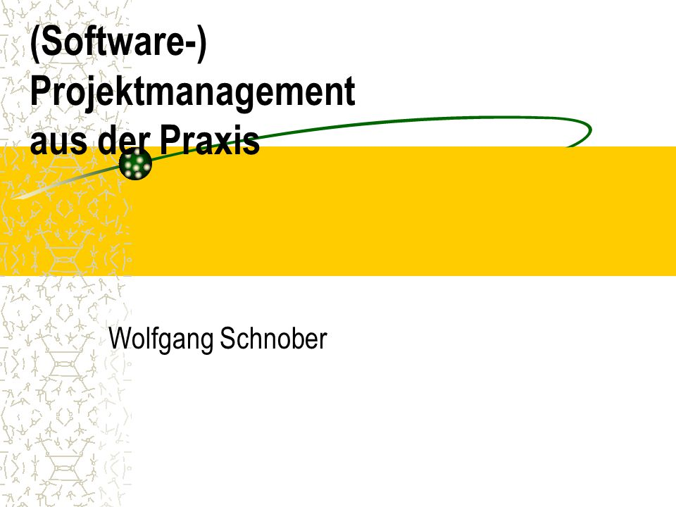 (Software-) Projektmanagement aus der Praxis