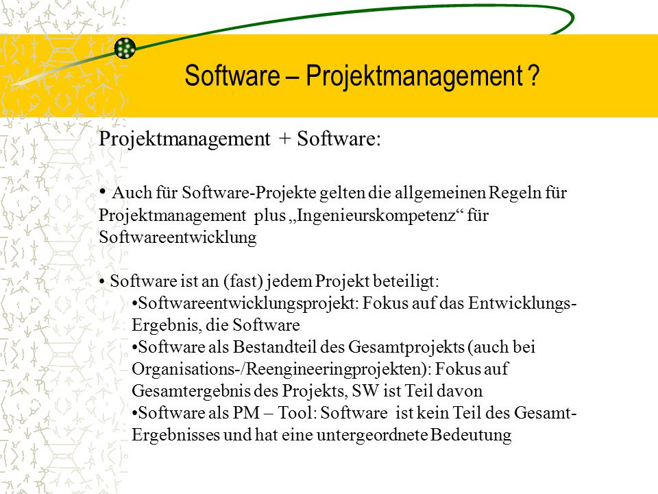 Software – Projektmanagement