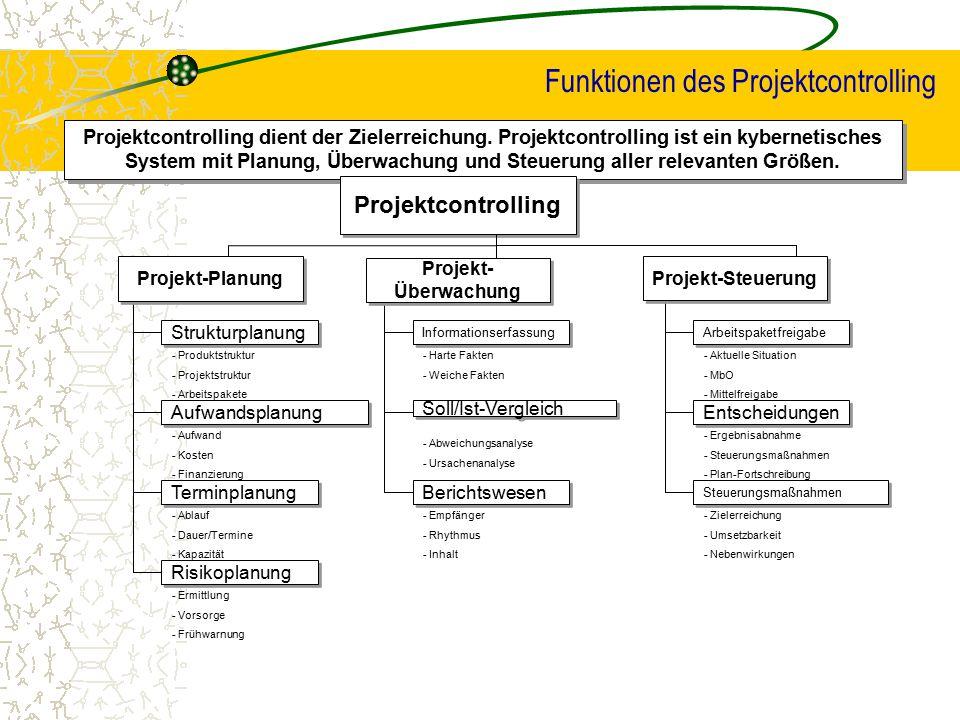 Funktionen des Projektcontrolling