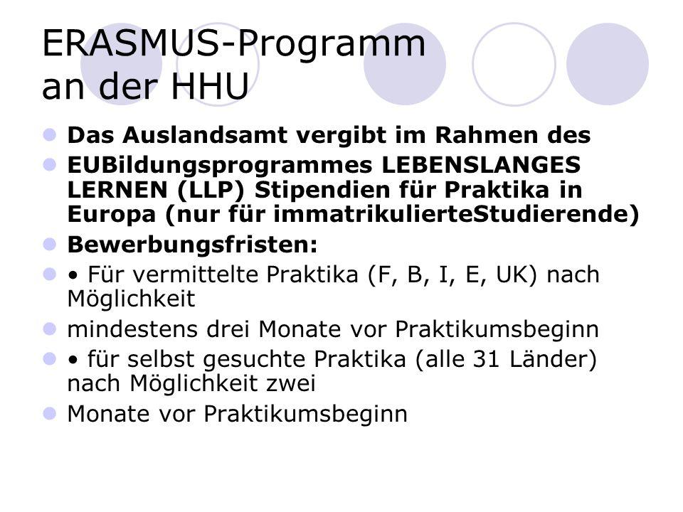 ERASMUS-Programm an der HHU