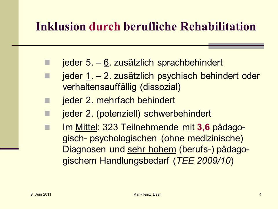 Inklusion durch berufliche Rehabilitation