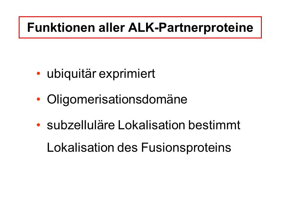 Funktionen aller ALK-Partnerproteine