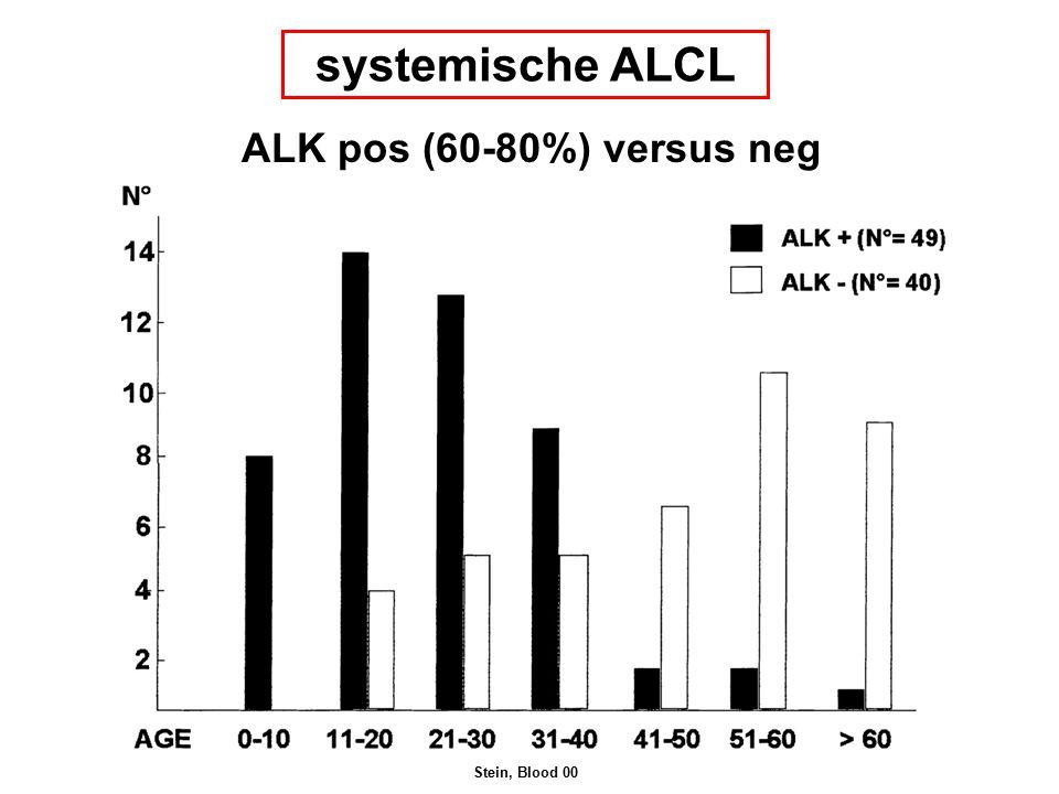 systemische ALCL ALK pos (60-80%) versus neg Stein, Blood 00