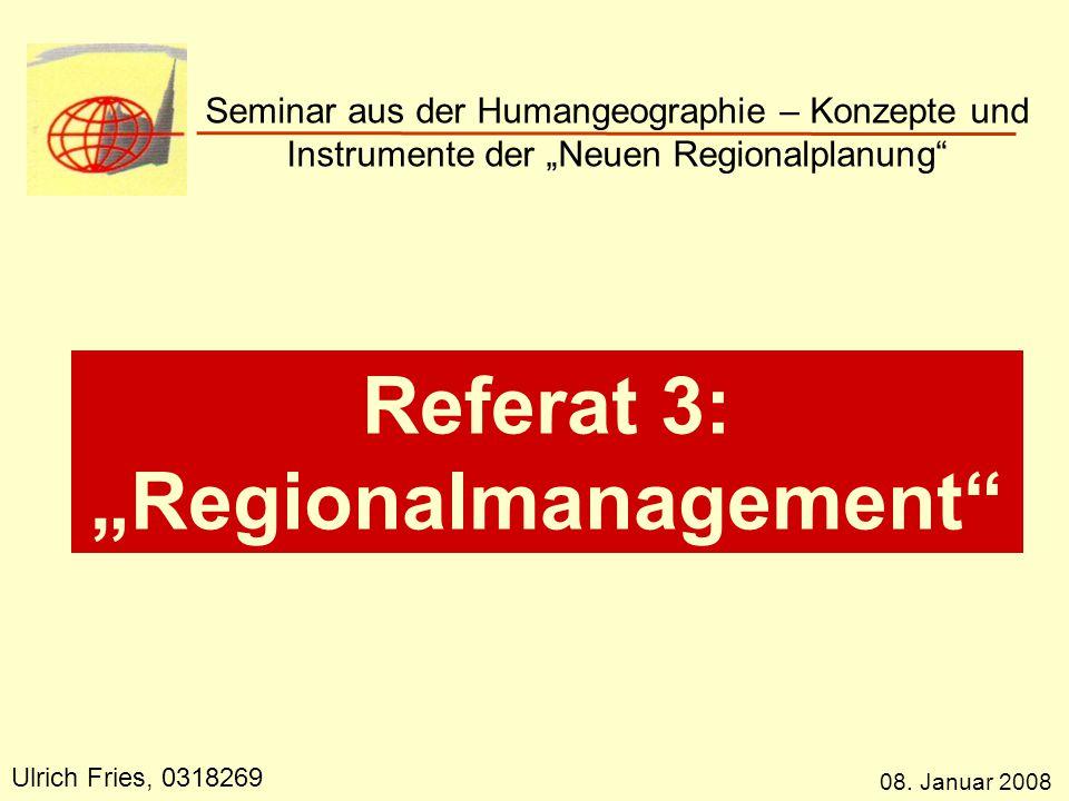 """""""Regionalmanagement"""
