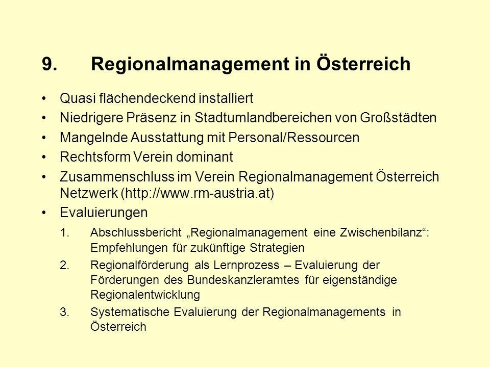 9. Regionalmanagement in Österreich