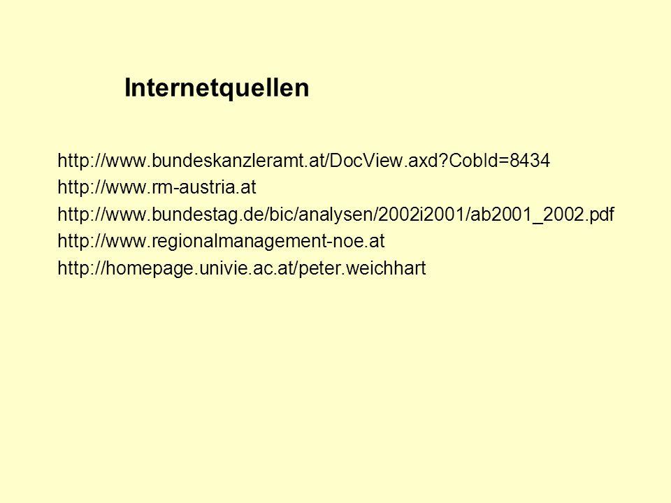 Internetquellen http://www.bundeskanzleramt.at/DocView.axd CobId=8434