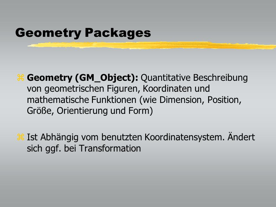 Geometry Packages