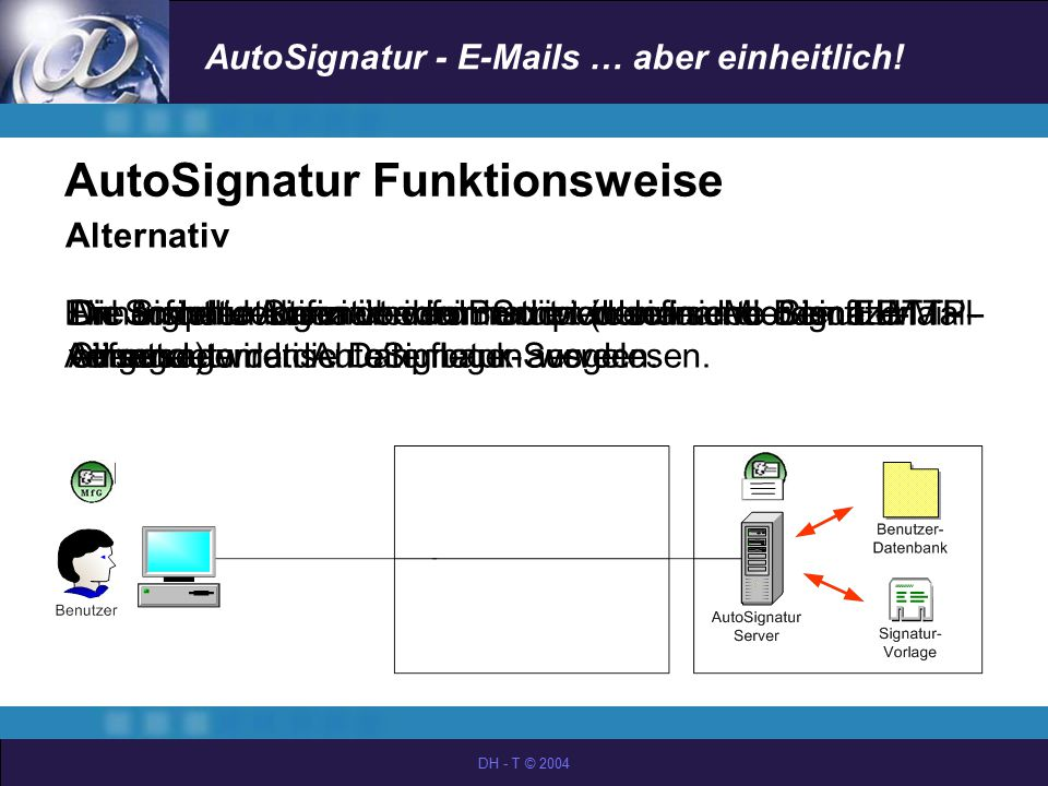 AutoSignatur Funktionsweise