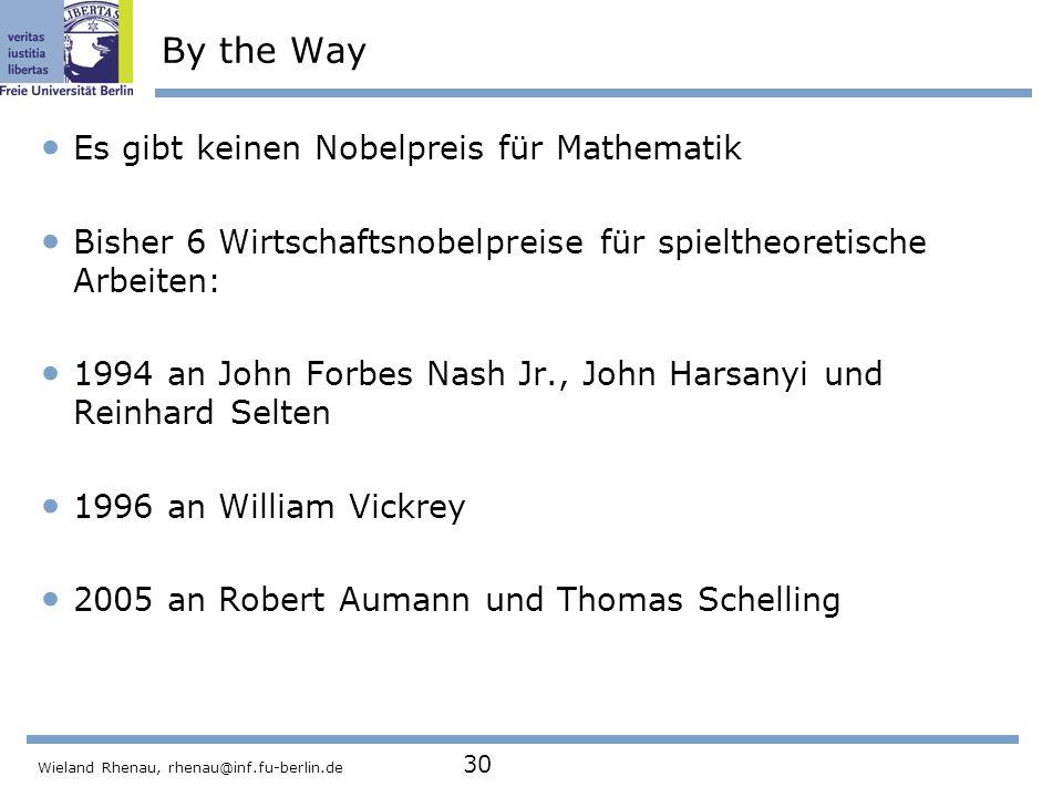 By the Way Es gibt keinen Nobelpreis für Mathematik