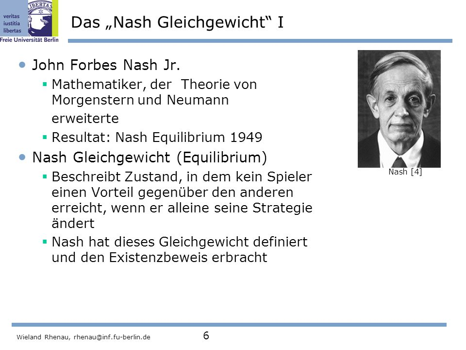 "Das ""Nash Gleichgewicht I"