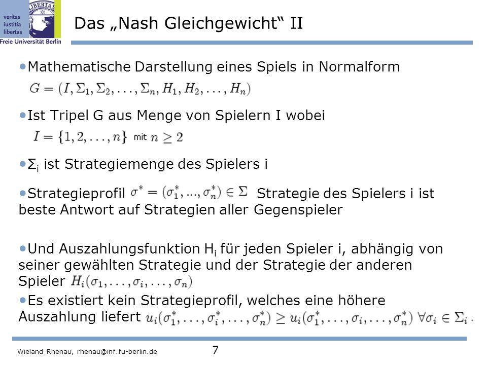 """Das """"Nash Gleichgewicht II"""