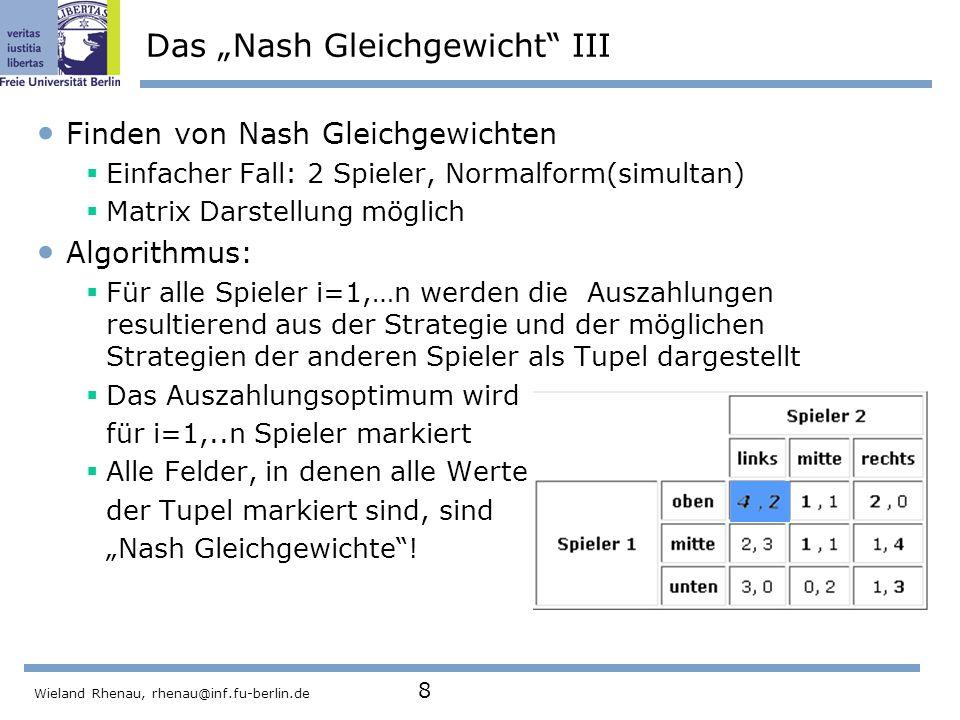 """Das """"Nash Gleichgewicht III"""