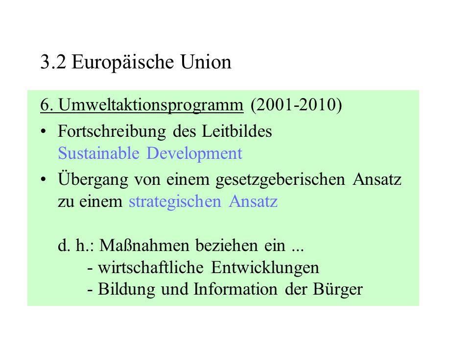 3.2 Europäische Union 6. Umweltaktionsprogramm (2001-2010)