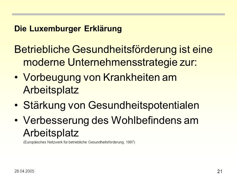 Die Luxemburger Erklärung