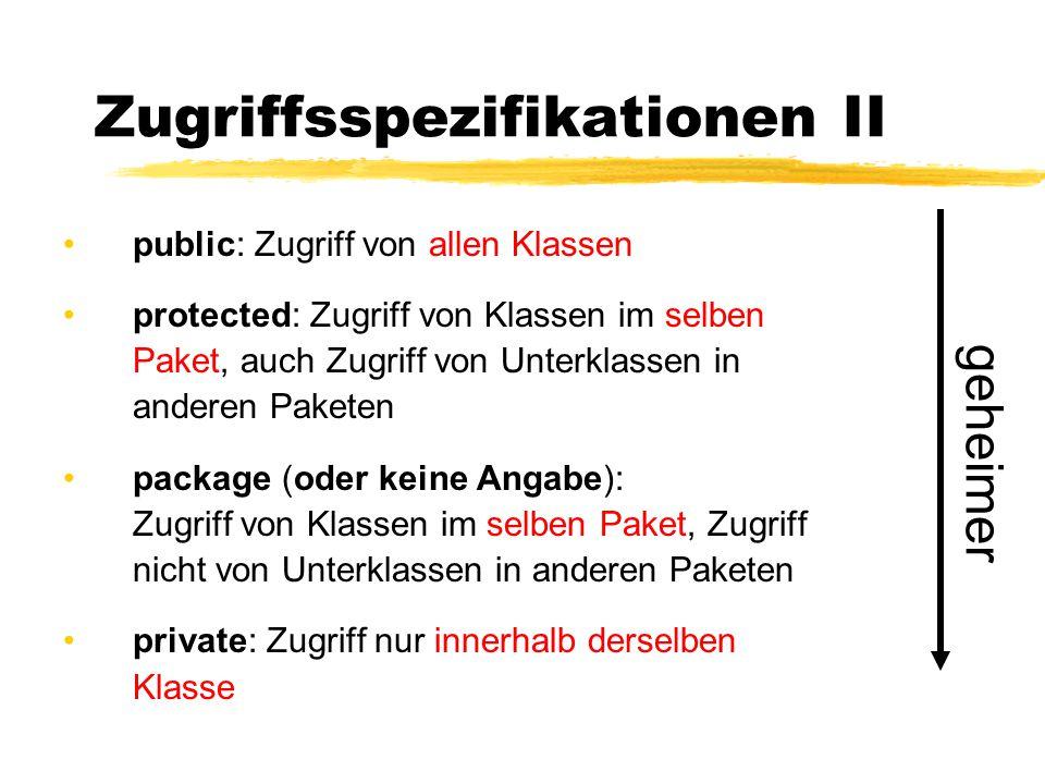 Zugriffsspezifikationen II
