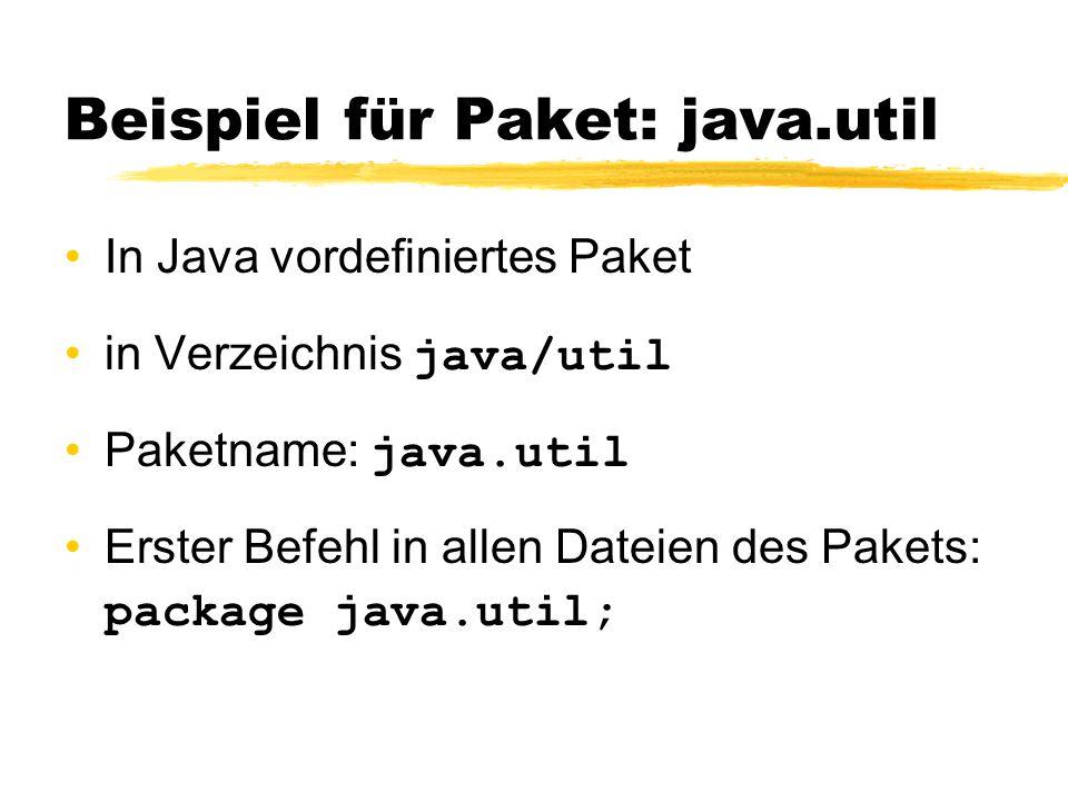 Beispiel für Paket: java.util
