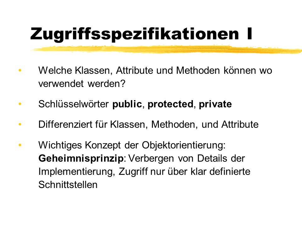 Zugriffsspezifikationen I