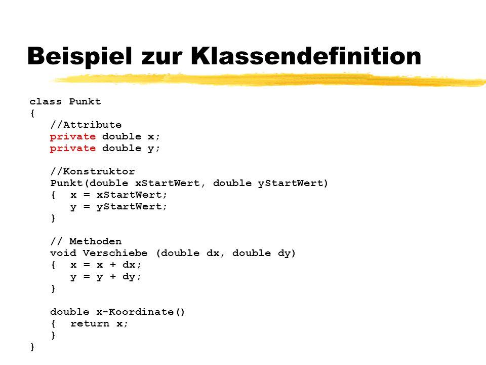 Beispiel zur Klassendefinition