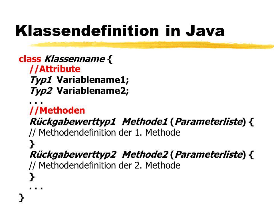 Klassendefinition in Java