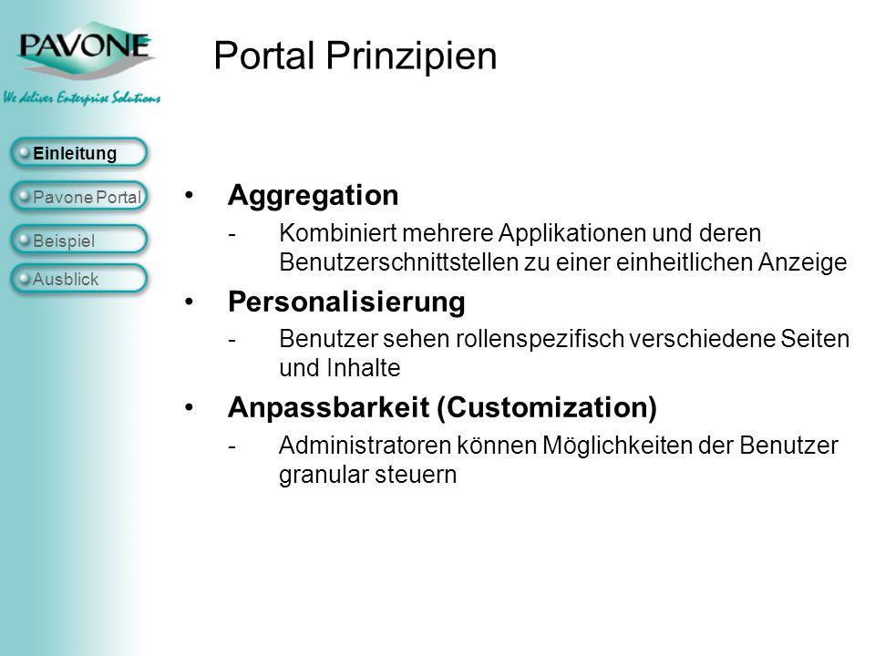 Portal Prinzipien Aggregation Personalisierung