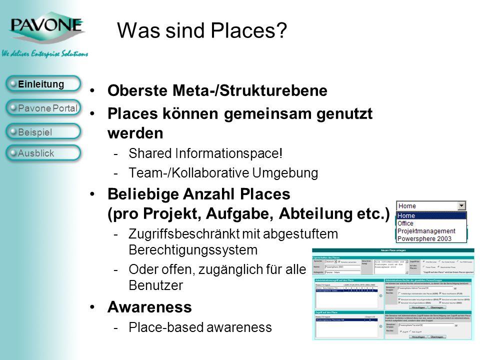 Was sind Places Oberste Meta-/Strukturebene