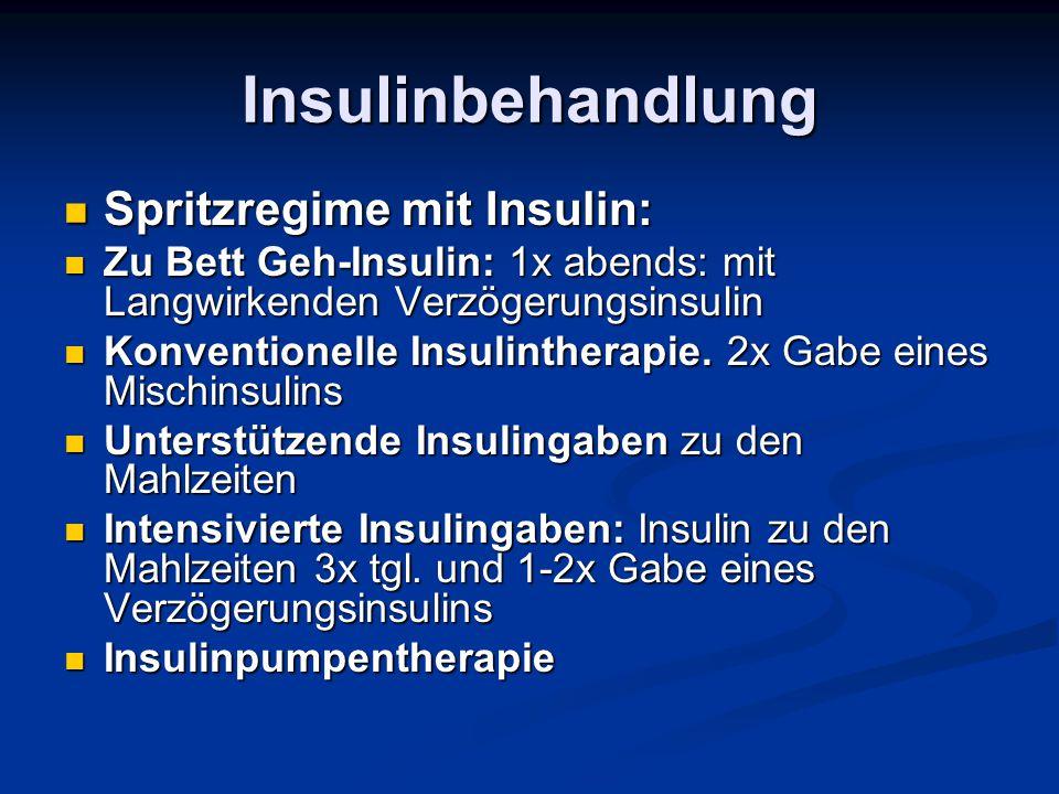 Insulinbehandlung Spritzregime mit Insulin: