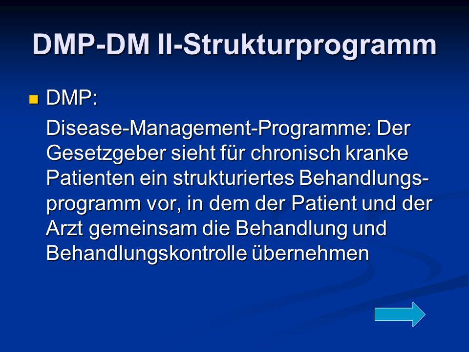 DMP-DM II-Strukturprogramm