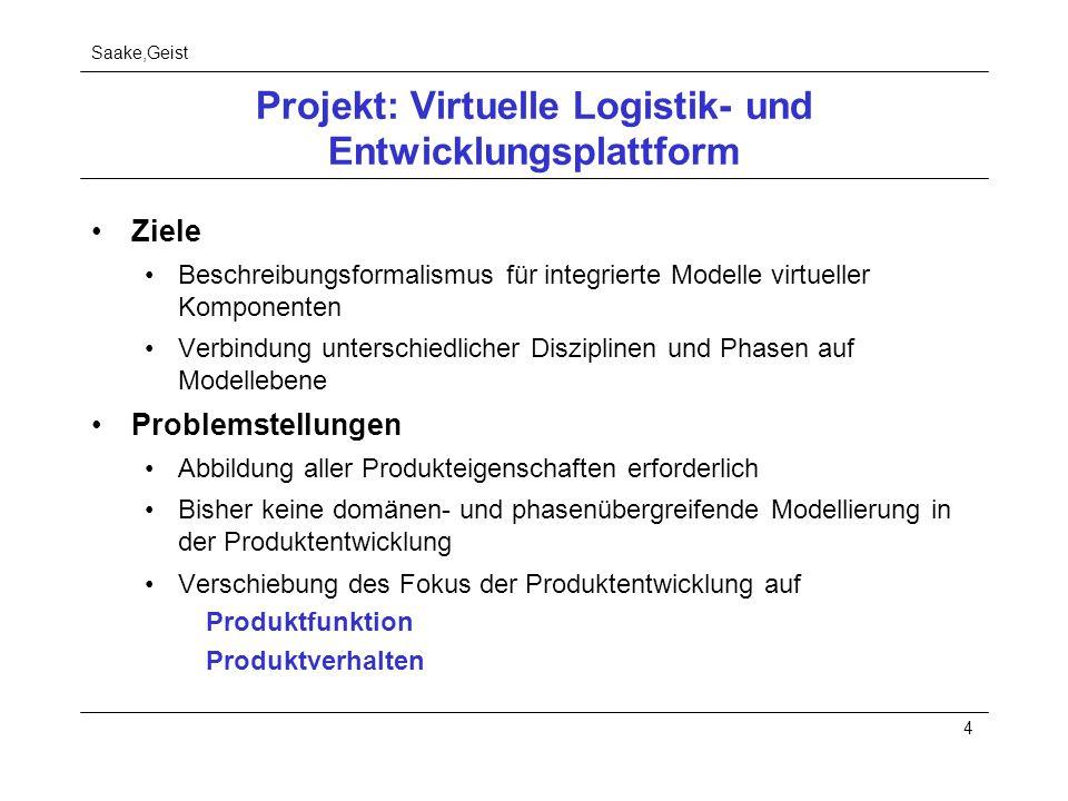 Projekt: Virtuelle Logistik- und Entwicklungsplattform