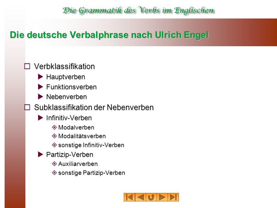 Die deutsche Verbalphrase nach Ulrich Engel