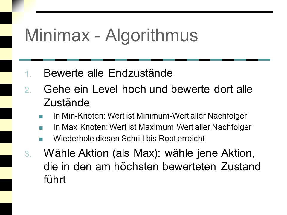 Minimax - Algorithmus Bewerte alle Endzustände