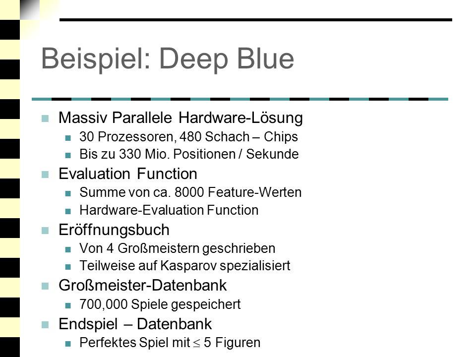 Beispiel: Deep Blue Massiv Parallele Hardware-Lösung