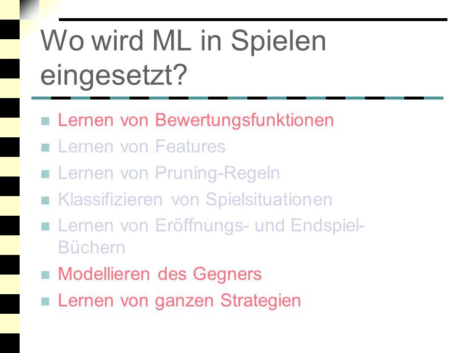 Wo wird ML in Spielen eingesetzt