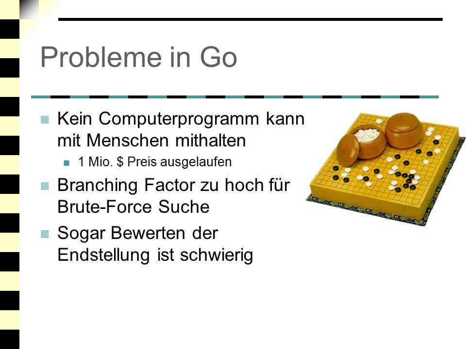 Probleme in Go Kein Computerprogramm kann mit Menschen mithalten