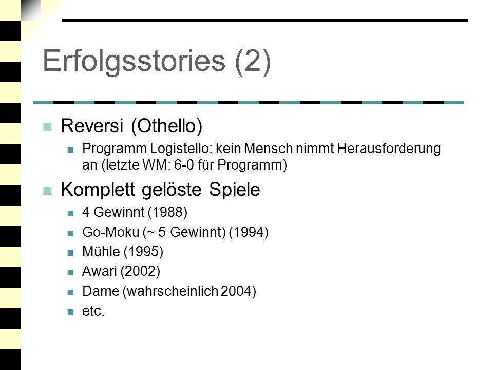 Erfolgsstories (2) Reversi (Othello) Komplett gelöste Spiele