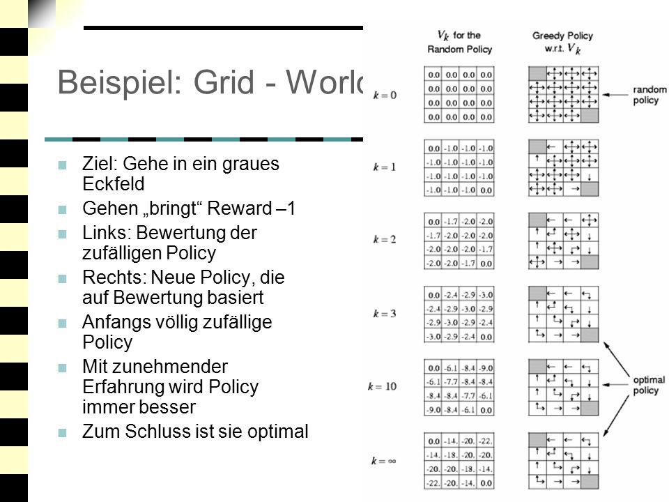 Beispiel: Grid - World Ziel: Gehe in ein graues Eckfeld