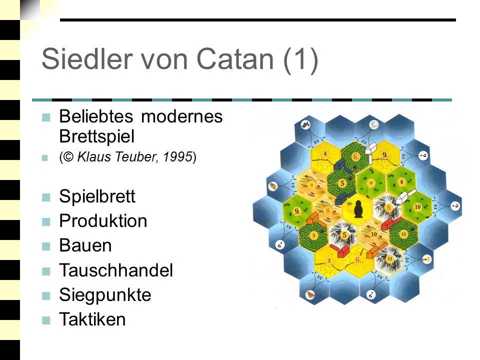 Siedler von Catan (1) Beliebtes modernes Brettspiel Spielbrett