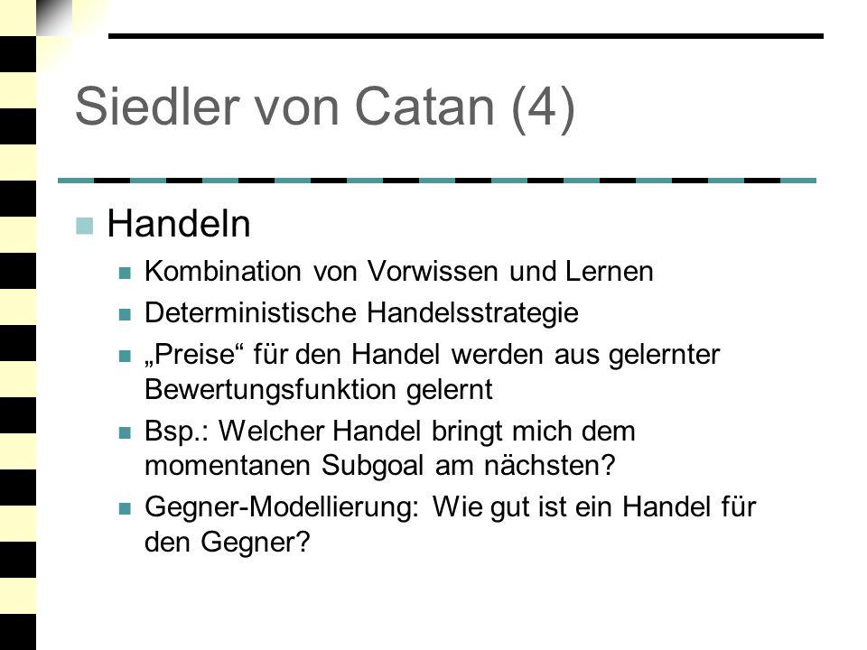 Siedler von Catan (4) Handeln Kombination von Vorwissen und Lernen