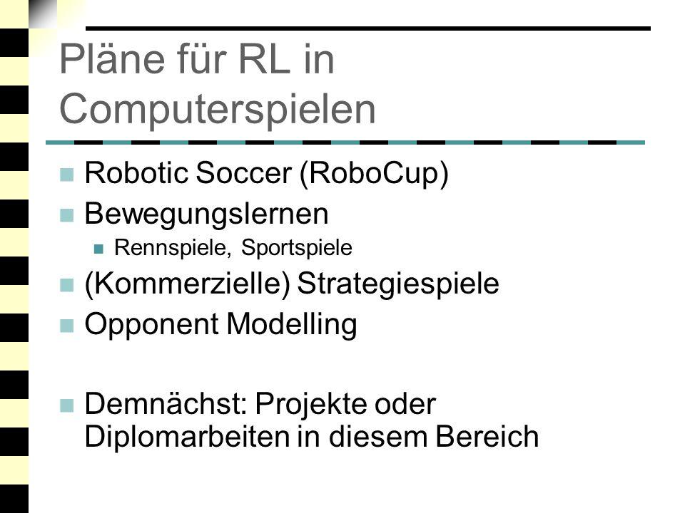 Pläne für RL in Computerspielen