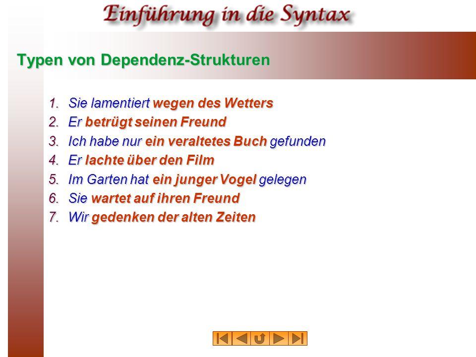 Typen von Dependenz-Strukturen