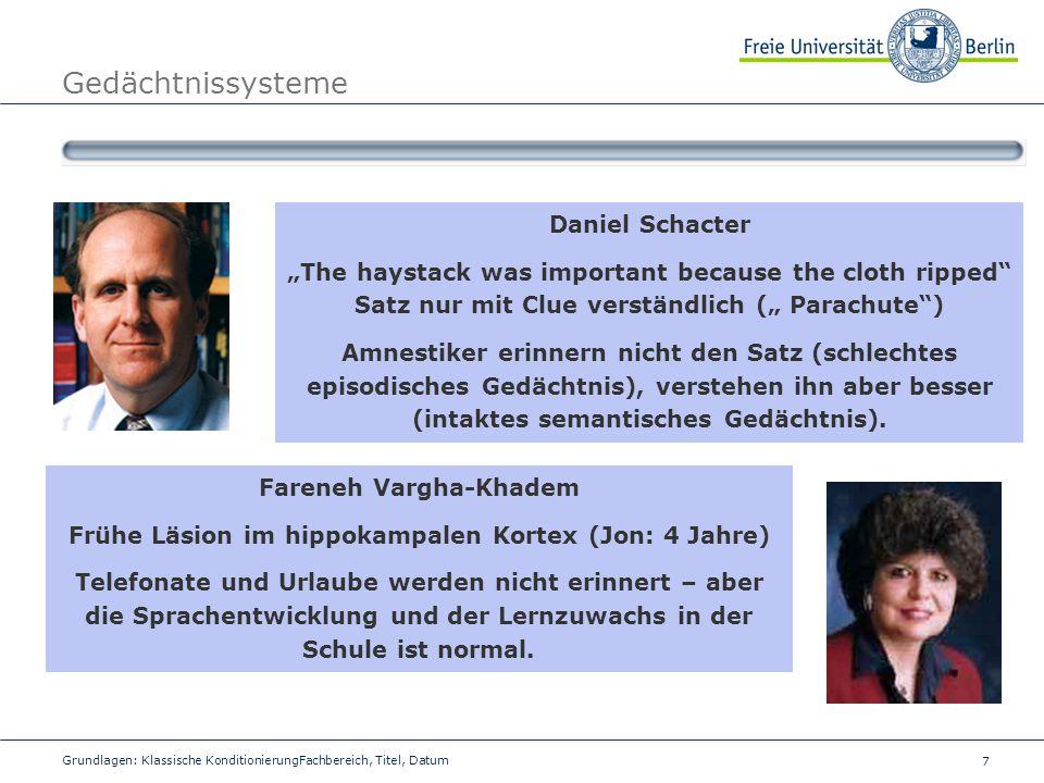 Gedächtnissysteme Daniel Schacter