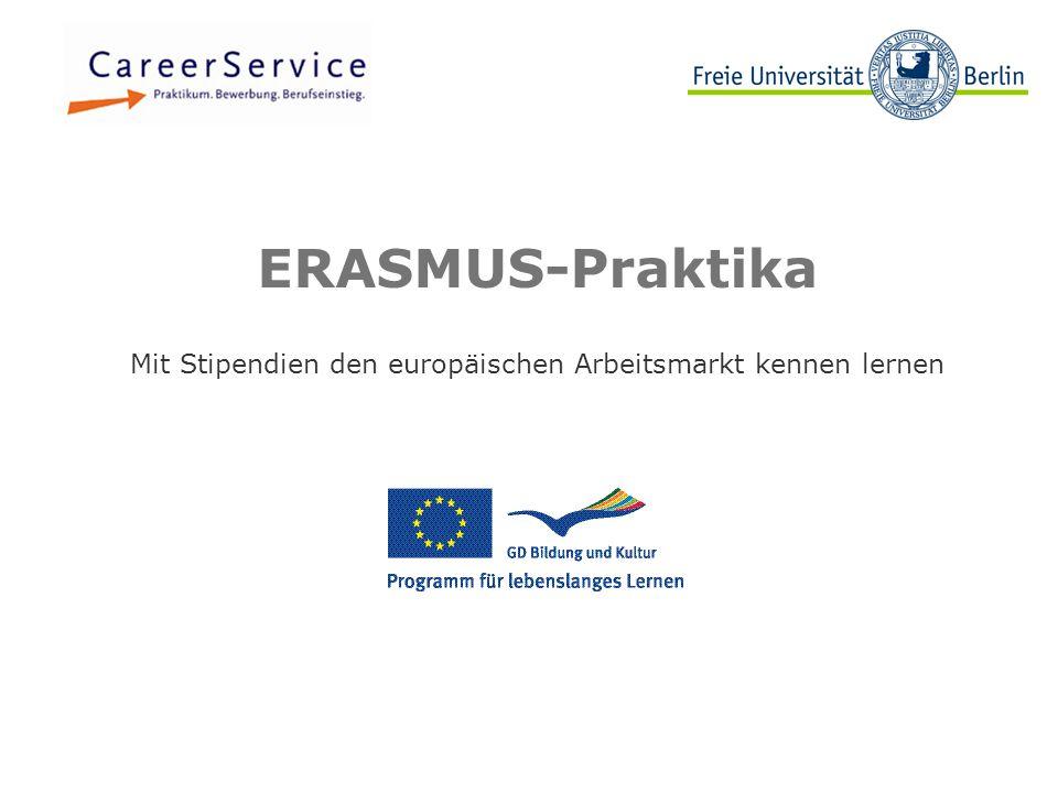 Mit Stipendien den europäischen Arbeitsmarkt kennen lernen