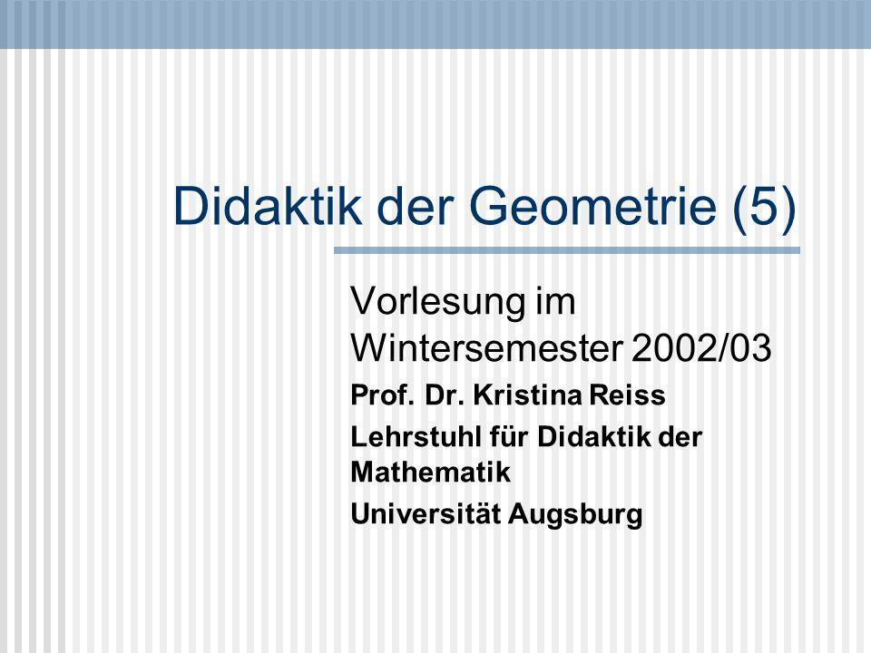 Didaktik der Geometrie (5)