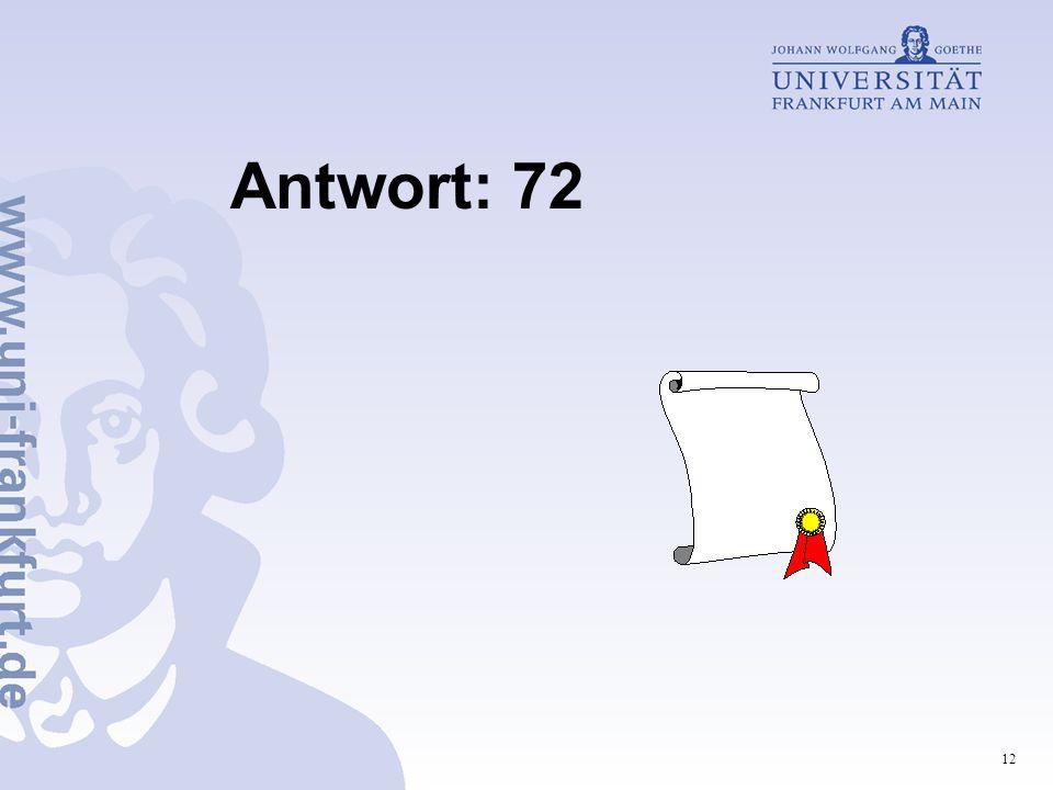 Antwort: 72