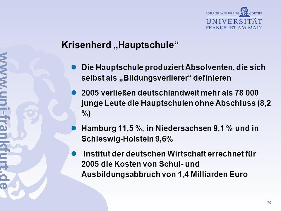 "Krisenherd ""Hauptschule"