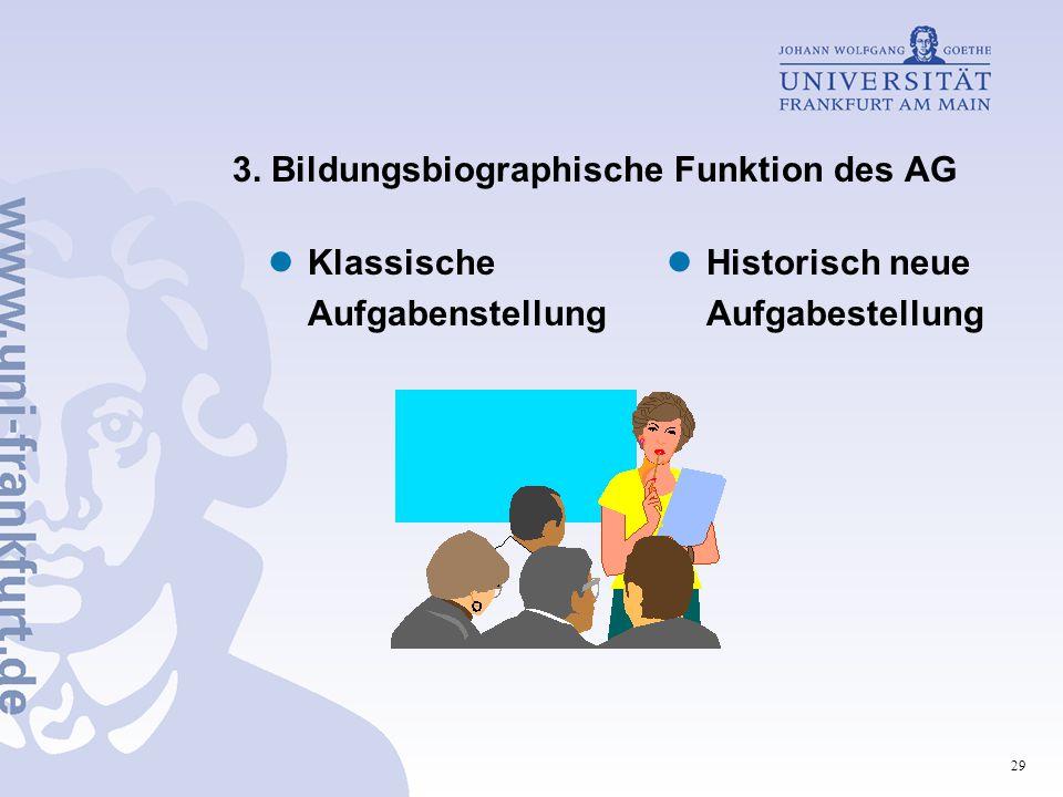 3. Bildungsbiographische Funktion des AG